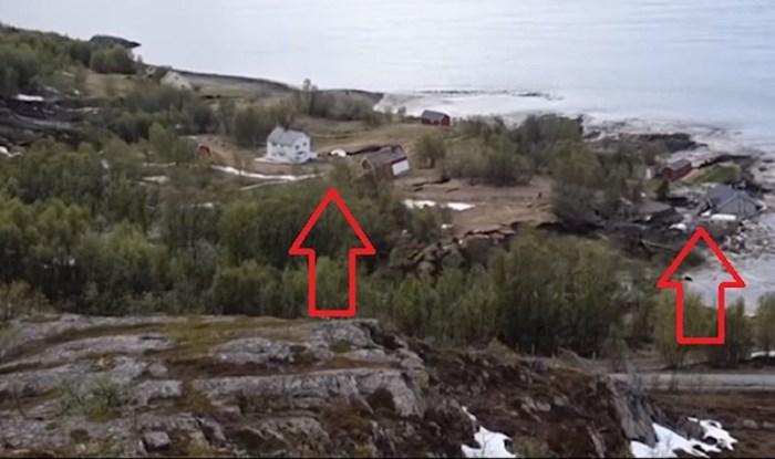U Norveškoj je u more otklizalo tlo na kojem je bilo 8 kuća, snimka je jeziva