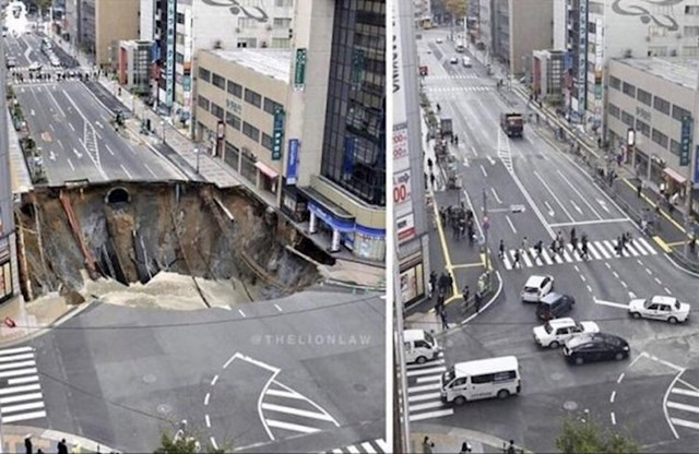 Cesta u Japanu popravljena za samo 2 dana