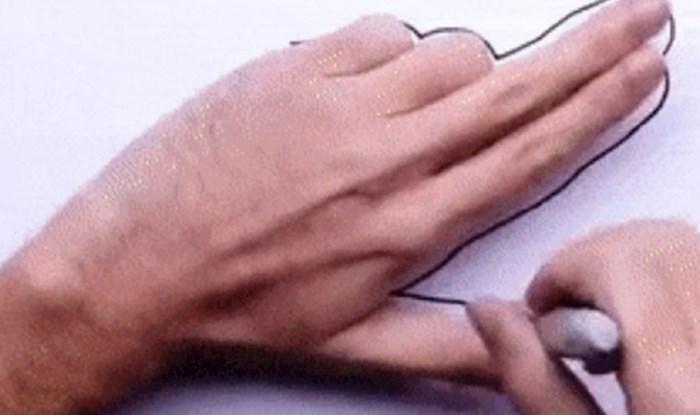 Evo kako možete lako zabaviti djecu uz pomoć olovke i vlastite ruke