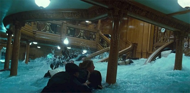 Za snimanje voda koja prodire kroz glavno stubište imali su samo jednu priliku