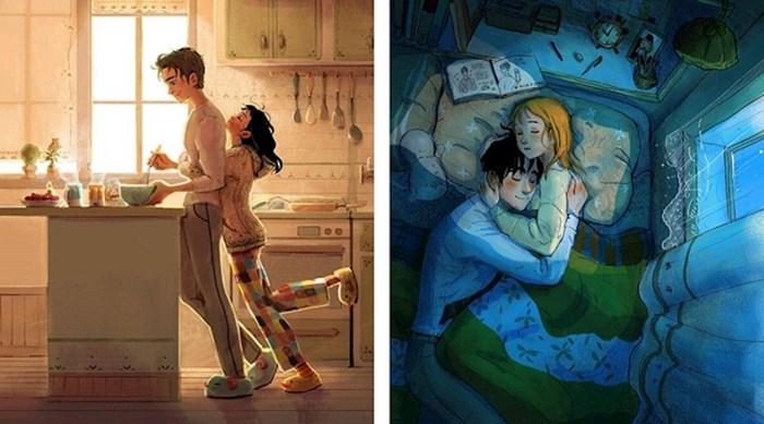 Umjetnica na svojim ilustracijama prikazuje male slatke geste koje rade svi parovi