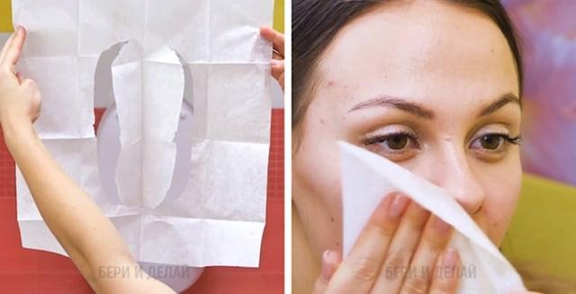 Zaštita za wc školjku kao maska za lice koju možete namočiti serumom