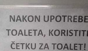 Na ovu molbu u jednom wc-u netko je napisao odgovor koji je nasmijalo sve posjetitelje
