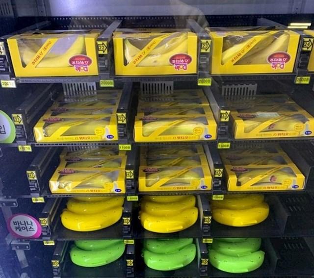 Ovdje možete kupiti banane i plastični omot za njih