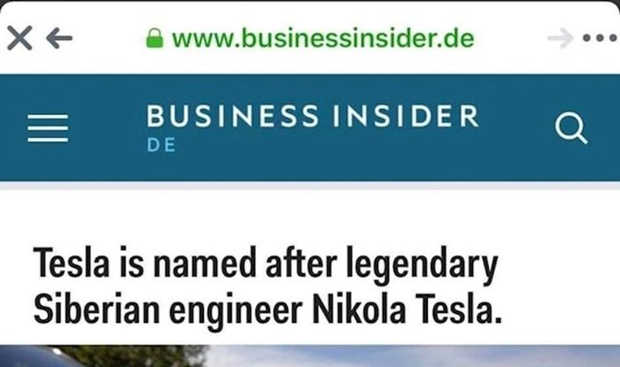 Business Insider i Nikola Tesla