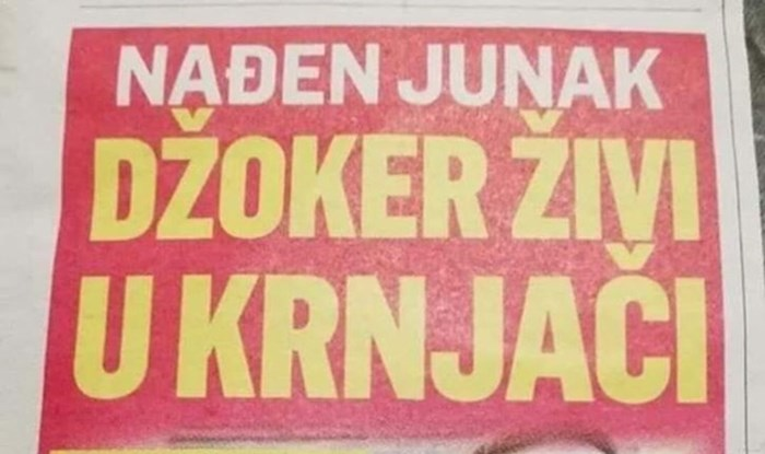Joker živi u Srbiji, evo vam dokaz