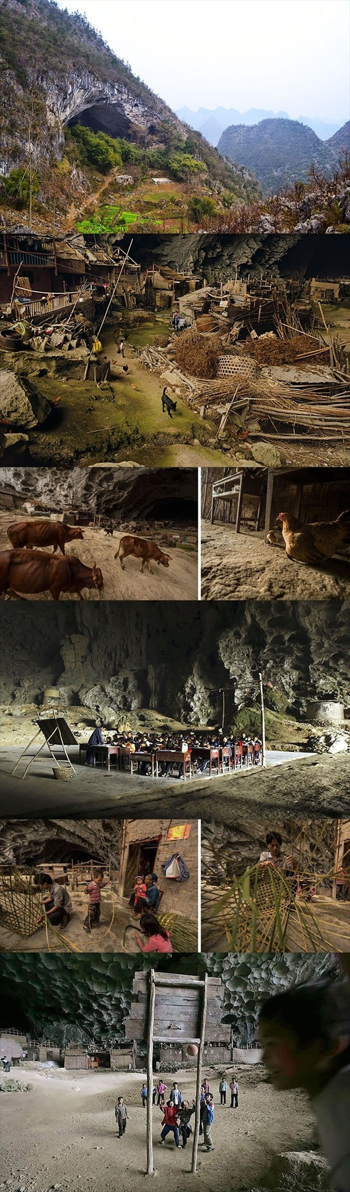 U ovoj pećini živi preko 100 ljudi. Imaju kuće, farme, čak i košarkaško igralište, evo kako to izgleda