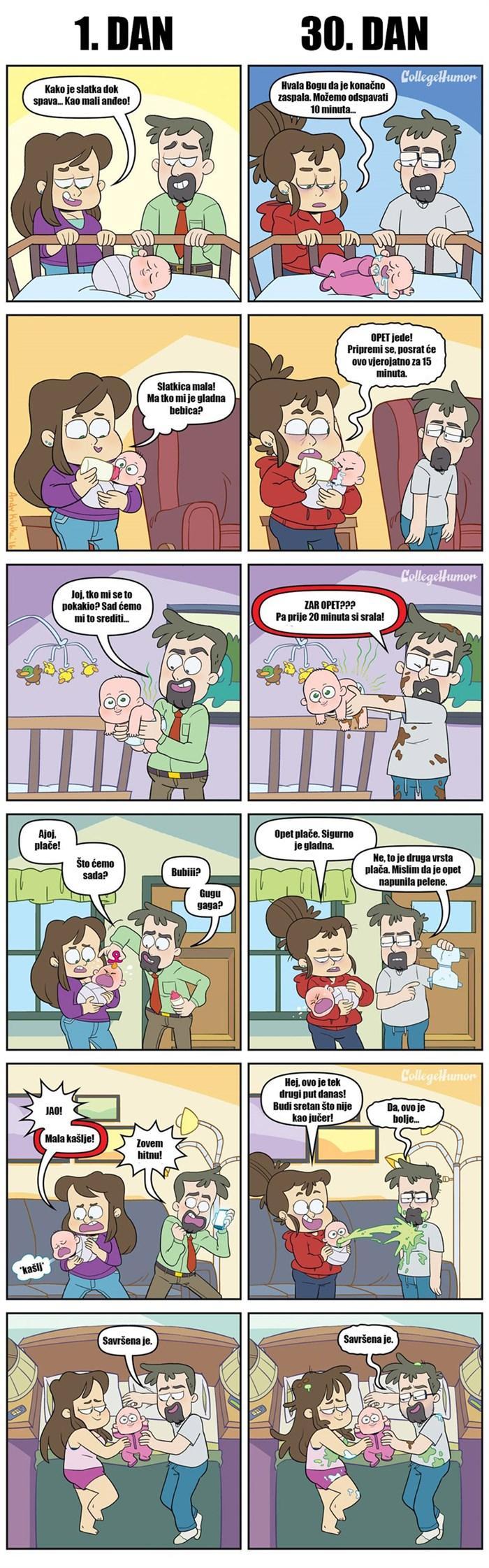 Nije lako biti roditelj: Strip pokazuje kako život s bebom izgleda nakon mjesec dana