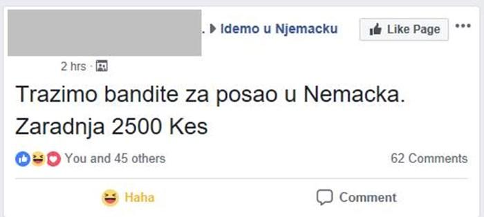Balkanskim lopovima cvjeta posao u Njemačkoj: Odlučili su se proširiti, evo što su objavili na Facebooku