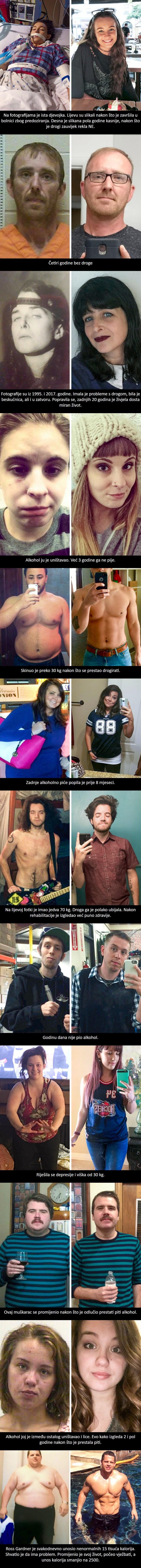 Jedna odluka im je promijenila život: Pogledajte što se dogodilo nakon što su ostavili drogu, alkohol...