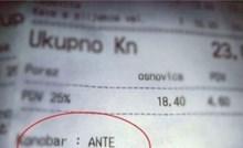 Čovjek je naručio na kavu s mlijekom, a onda je na računu primijetio zanimljiv detalj
