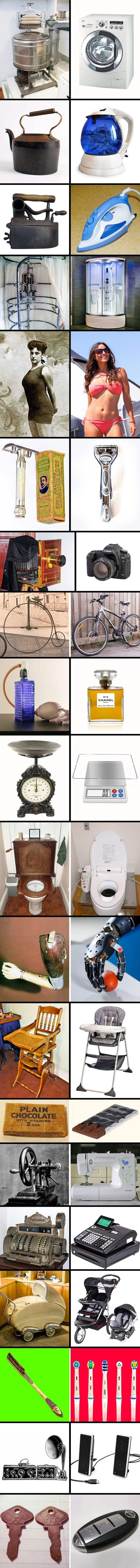 20 usporedbi koje pokazuju kako su stvari koje svakodnevno koristimo nekada izgledale