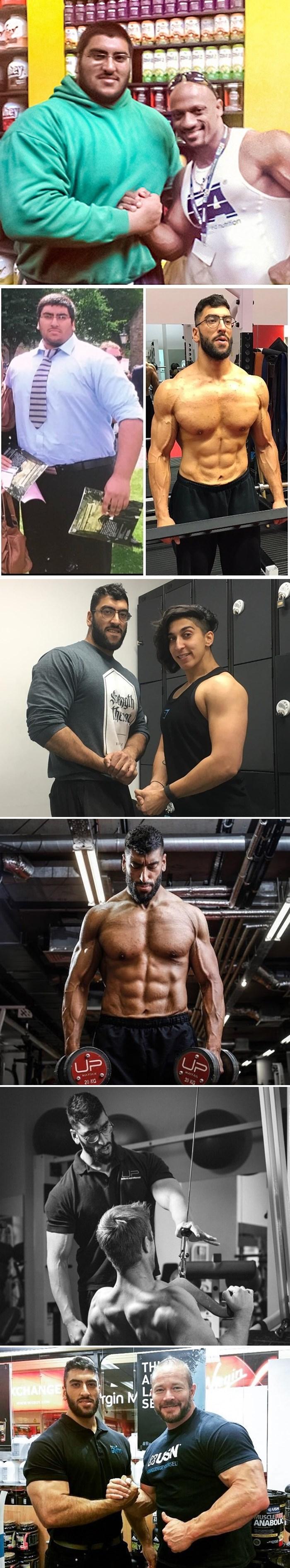 Nakon što je zbog svoje težine uništio tuš kabinu, potpuno je promijenio svoju prehranu i izgled