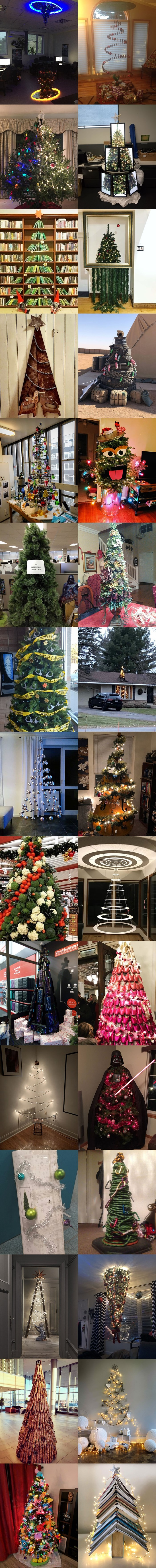 """Ovi ljudi su """"začinili"""" blagdane svojim genijalnim božićnim drvcima, teško je odabrati najbolju ideju"""