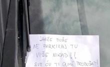 Krivo parkirani auto je nekoga jako naljutio, evo što je poručio vlasniku vozila