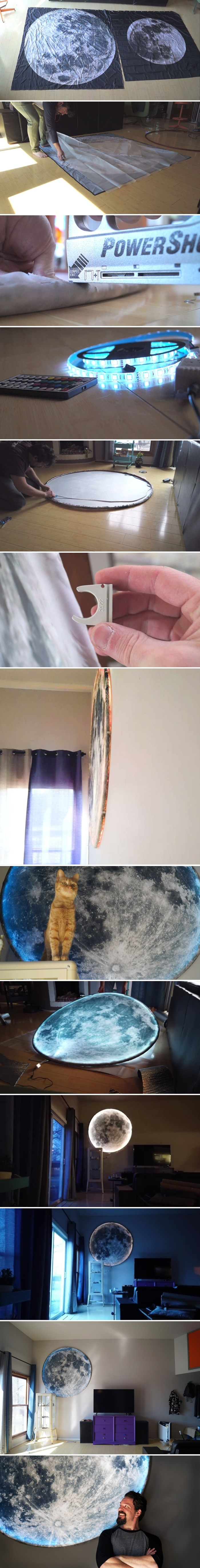 Muž je od jeftinog materijala napravio prekrasnu rasvjetu za spavaću sobu