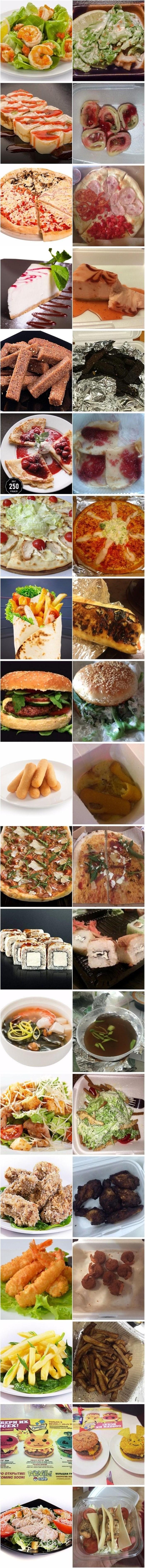 Hrana na slikama uvijek izgleda bolje, neki su bili razočarani onim što su na kraju dobili