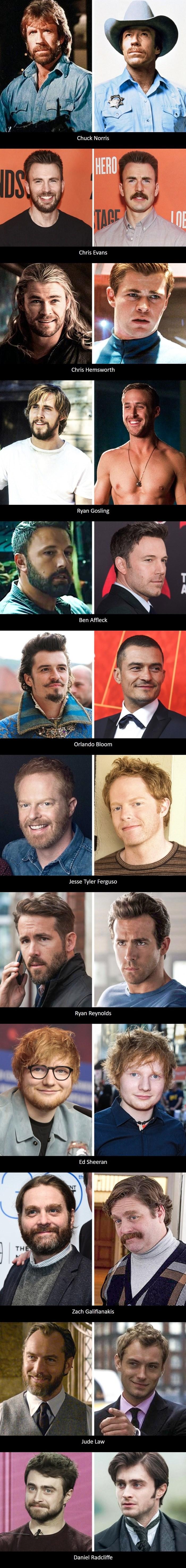 CHUCK NORRIS BEZ BRADE?! Ovi poznati muškarci su dokazali da dlake na licu mijenjaju puno toga