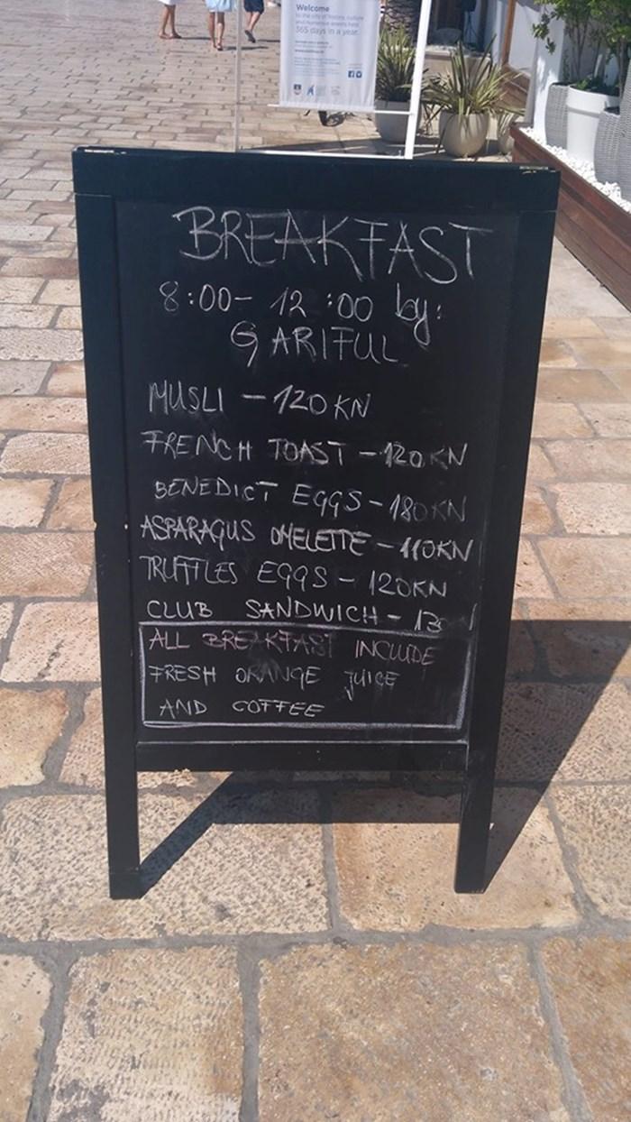 180 KUNA ZA JAJA? Jesu li ovakve cijene razlog zbog kojeg turisti izbjegavaju Hrvatsku?