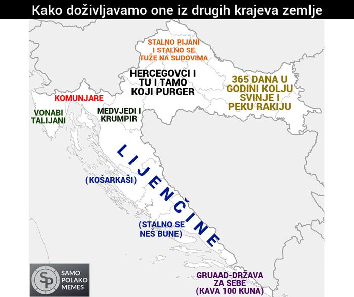 Oni tvrde da Hrvati ovako doživljavaju ljude iz drugih krajeva vlastite zemlje
