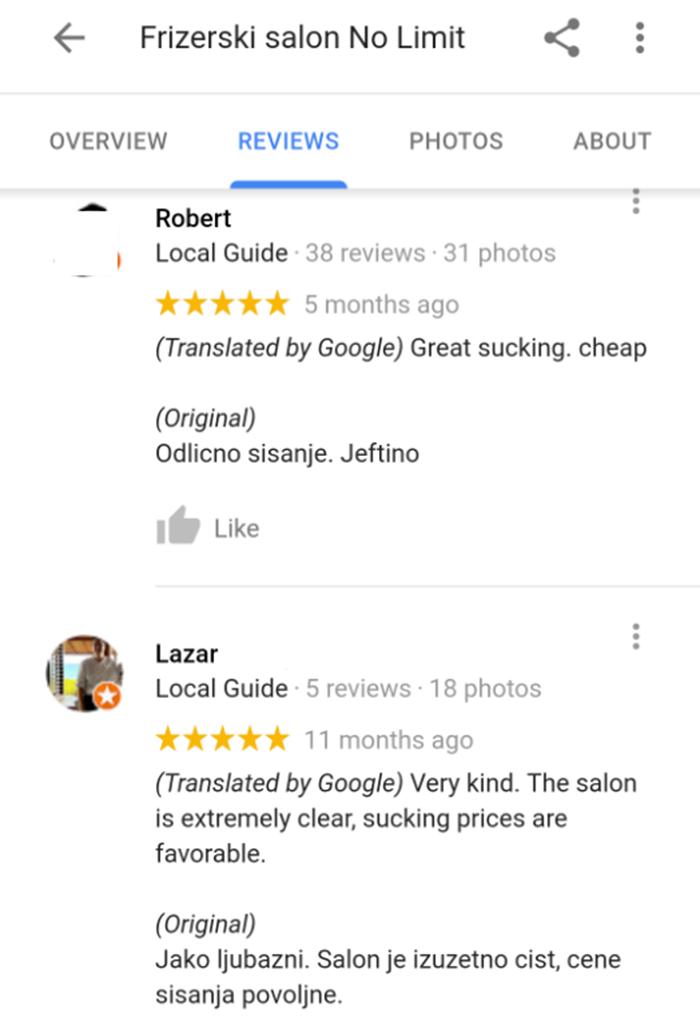 Smiješne recenzije ovog frizerskog salona privući će mnoge strance