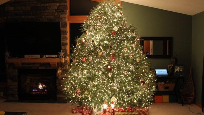 Obitelj napravila božićni spektakl pomoću lampica, glazbe i jelke