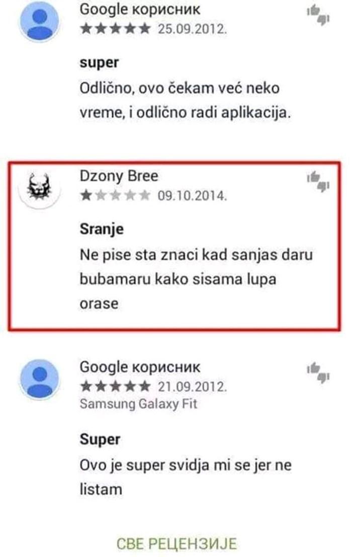 Ljudi ostavili recenzije za aplikaciju koja tumači snove, jedan komentar pobijedio sve