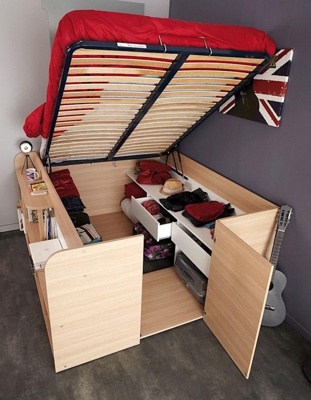 Krevet za uštedu prostora u koji možete spremiti sve što želite. Saveršen za male stanove.