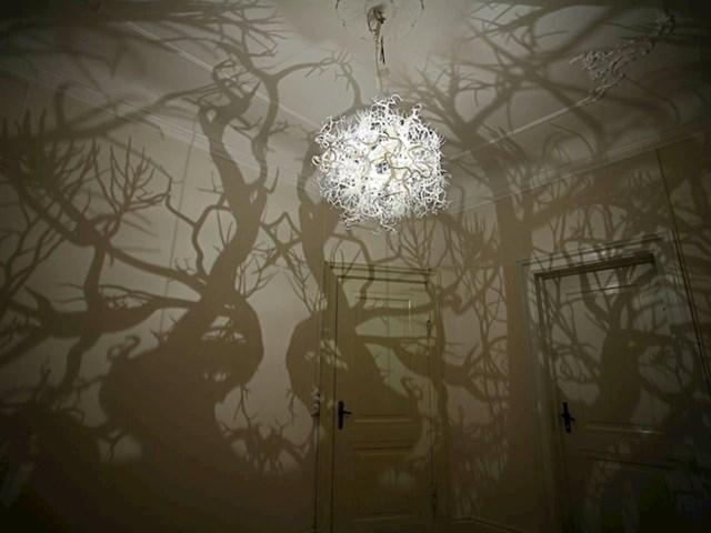 Ovaj luster će zidove vašeg doma pretvoriti u šumu drveća
