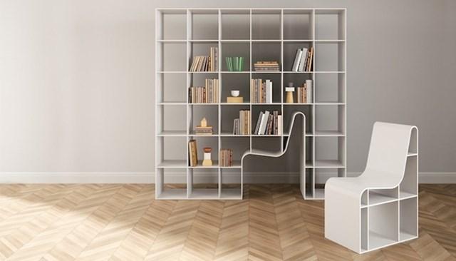 Knjižnica dizajnirana za udobnost i uštedu prostora